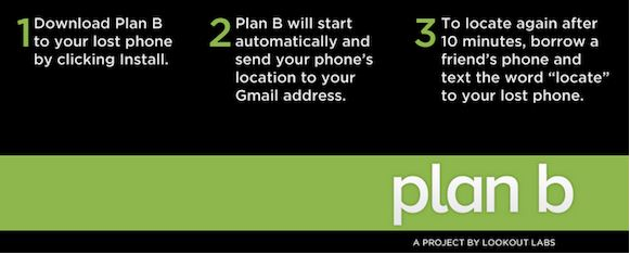 Plan B for Android, your last hope in the event of loss or theft of your phone