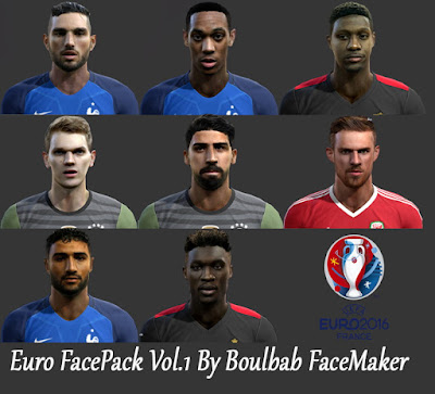 PES 2013 Euro Facepack Vol.1 by Boulbaba Facemaker