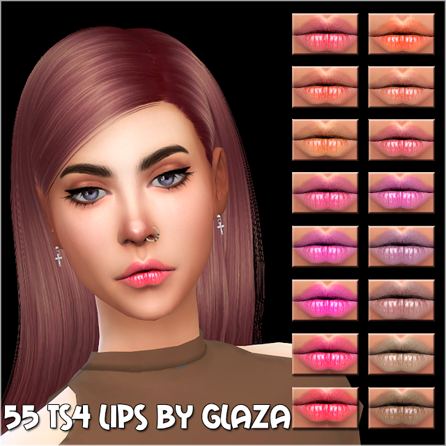 55 ts4 lips by glaza