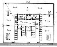 Plan of Rockhampton Gaol from the 1869 Report into Prison Discipline (BRGHS)
