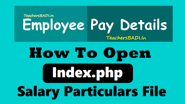 how to open index.php salary particulars file in browser computer android phone laptop tablet, employee salary particulars,employee pay details,pay particulars,salary details,pay details