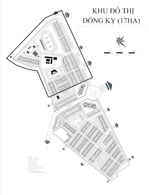 Mặt bằng tổng quan quy hoạch Đồng Kỵ Lovera Garden
