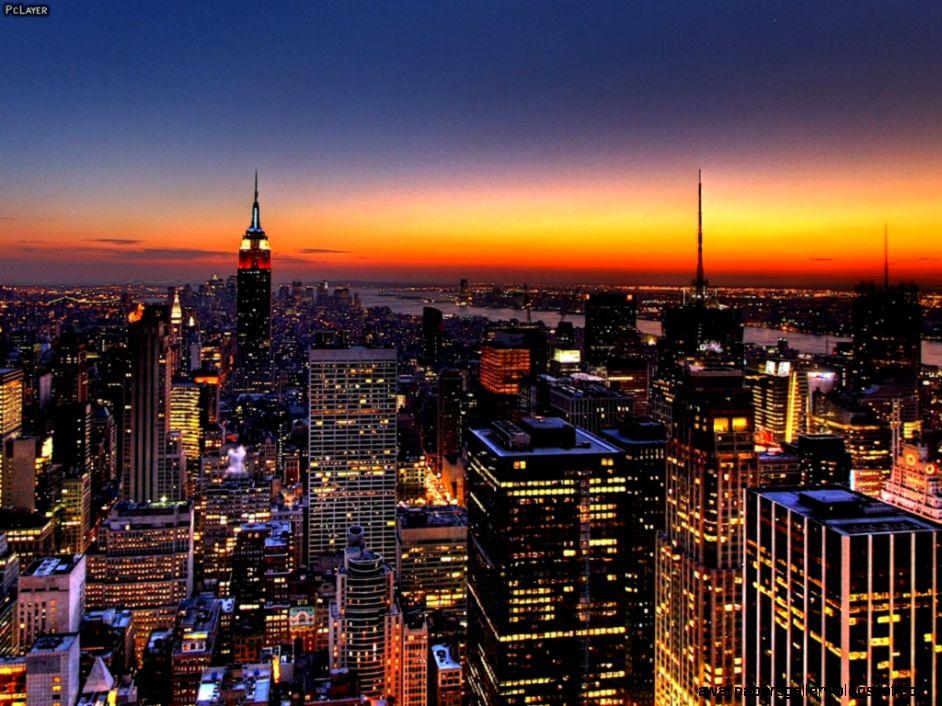 City Skyline At Night Hd