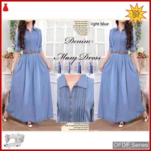OFDF296 Dress Maxi Dress Maxy Denim Chambray BMGShop