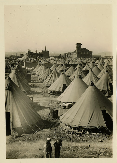 Refugee camp in the Potrero District, 1906 California Historical Society