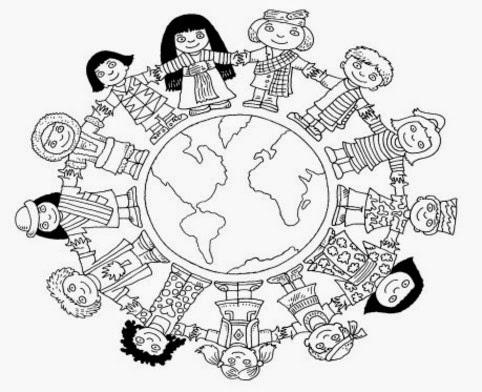 diversity coloring pages for children - photo#30
