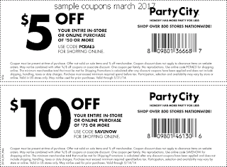 Party City coupons for march 2017