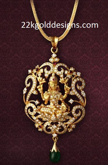Lakshmi Devi Diamond Locket
