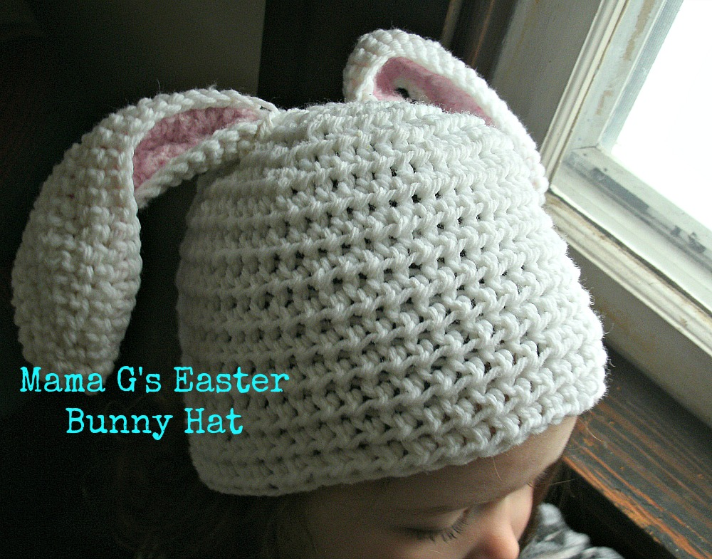 Here is an updated picture of my little Easter bunny  ) Used the ear pattern  but made it with a toddler beanie. You can use any highly rated beanie  pattern ... 773ed25c676