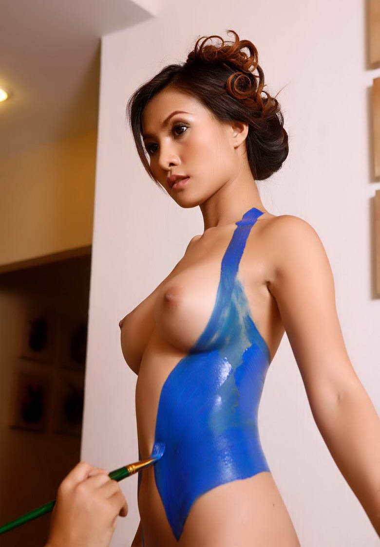 Naked body paint sex