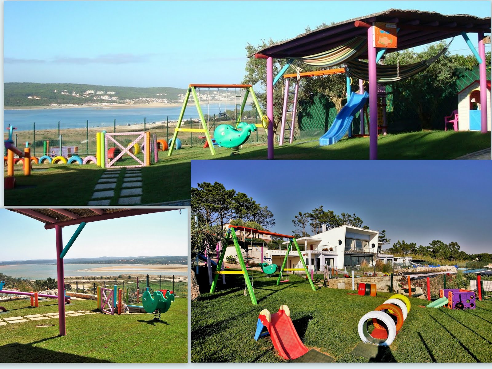 The playground is located at the villa's mid level
