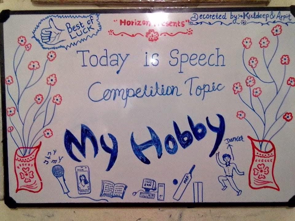 Horizon English Study Online My Hobby Speech Essay