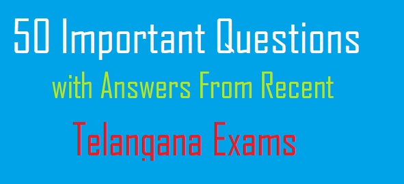 Telangana Exams Previous Bits