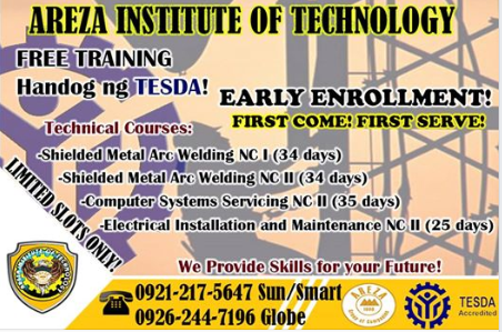 4 Technical Courses Free Tesda Training (ENROLL NOW)