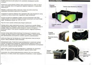 Instrukcja Gogle narciarskie z kamerą Full HD THB029