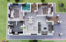 Ground Floor Plan 3D Home Design Houses