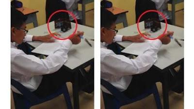 Perhatikan Benda di Meja! Cara Siswa Ini Mengerjakan Ujian Bikin Netizen Terharu