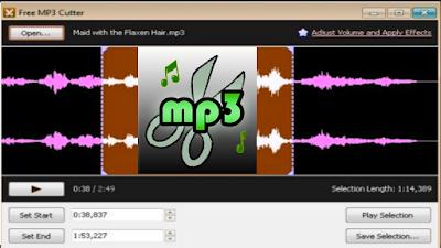 تنزيل برنامج MP3 Cutter تقطيع الصوت للكمبيوتر برابط مباشر
