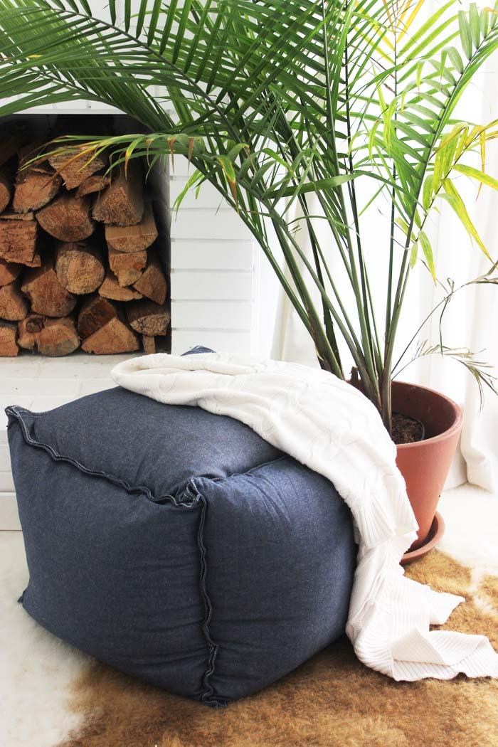 IKEA Hack   Cushions Turn Ottoman