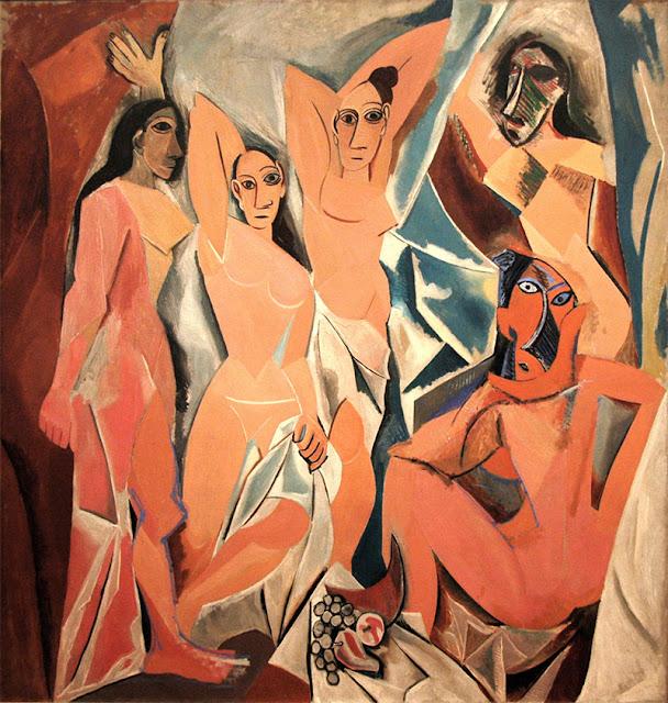Primo quadro cubista Pablo Picasso, Les Demoiselles D'Avignon