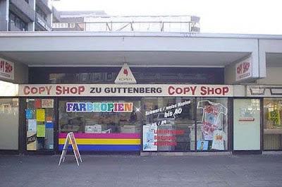 witzige Firmenlogos Guttenberg Kopiershop