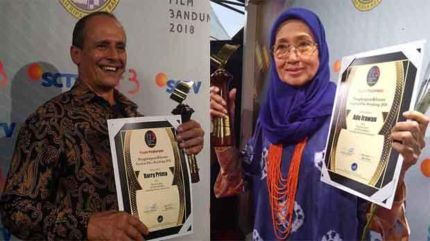 Ade Irawan & Barry Prima Raih Lifetime Achievement FFB 2018