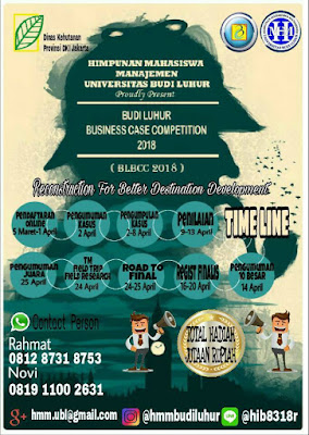 Lomba Business Case Competition 2018 Univ. Budi Luhur