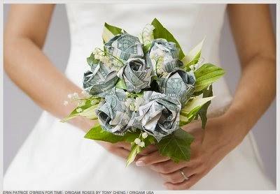 Money Rose Origami flower 10 real $1 bills Graduation holiday ...   278x400