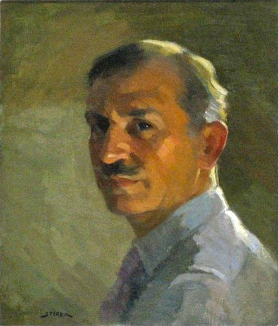 Antonin Sterba, Self Portrait, Portraits of Painters, Fine arts, Portraits of painters blog, Paintings of Antonin Sterba, Painter Antonin Sterba