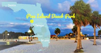 Pine Island Beach Park in Palmenstrände Florida's, Florida USA