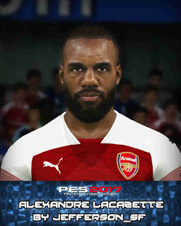 PES 2017 Faces Alexandre Lacazette by FaceEditor Jefferson_SF