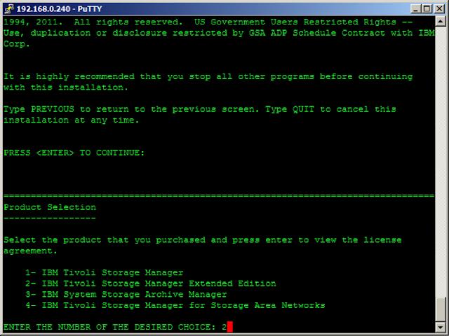 TSM Server installation Steps