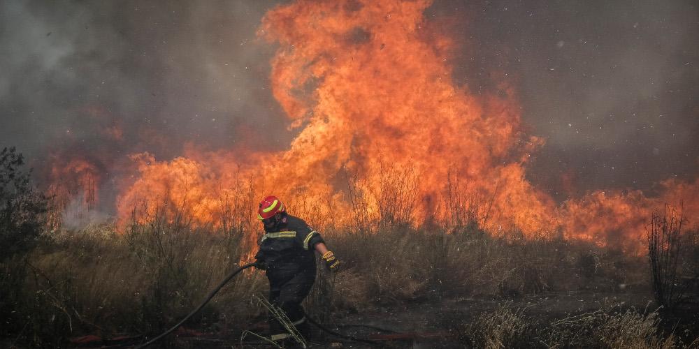 Ολονύχτια μάχη με τις φλόγες στην Σητεία της Κρήτης