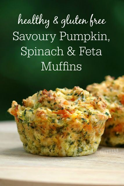 Savoury Pumpkin, Spinach and Feta Muffins