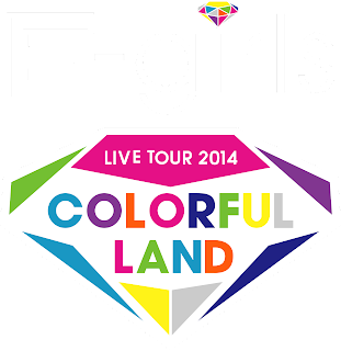 "E-girls LIVE TOUR 2014 ""COLORFUL LAND"" Logo"