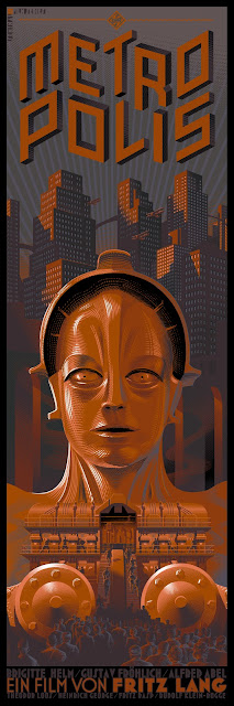 Dark Hall Mansion - Metropolis Alternate Edition Screen Print by Laurent Durieux
