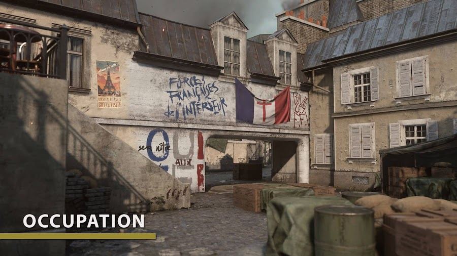 call of duty wwii the resistance occupation map