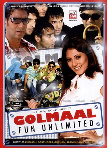 Golmaal Fun Unlimited 2006 Hindi 720P DvdRip 1GB , Golmaal 1 BrRip 720P, Gol maal 1 Fun Un Limited 720P DvdRip 700MB Direct Download Single link or in parts from https://world4ufree.ws