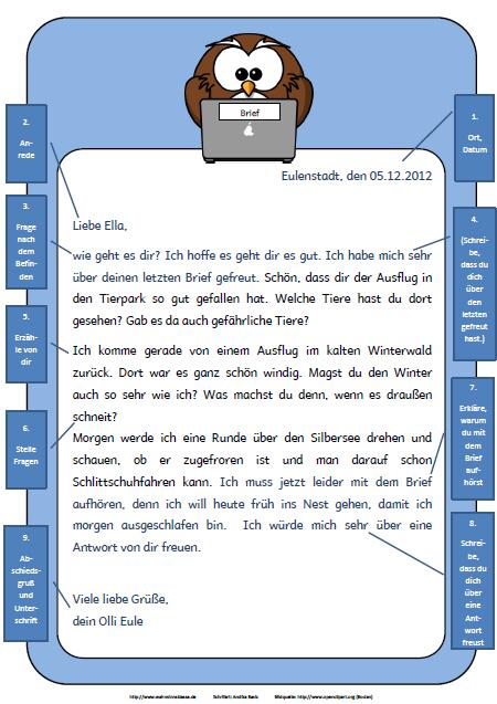 Briefe Schreiben 3 Klasse übungen : Anleitungen zu textformen wahnsinnsklasse