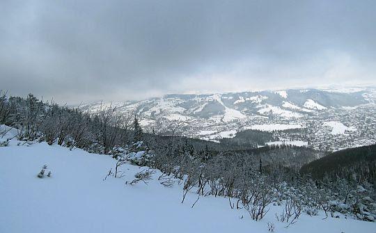 Panorama Zakopanego z Sarniej Skały.
