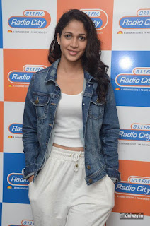 Lavanya Tripathi at Radio City Srirastu Subhamastu Movie Promotions