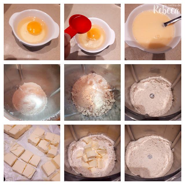 Receta de galette de melocotón: la masa 01