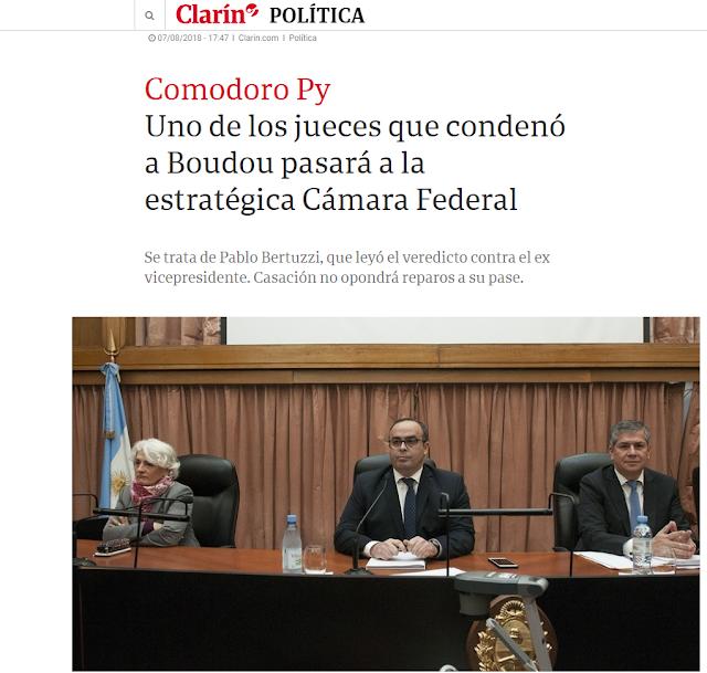 Escándalo: el juez Pablo Bertuzzi, negoció con Macri y Garavano, su pase a la Cámara Nacional de Apelaciones en lo Criminal y Correccional Federal de la Capital Federal, a cambio de condenar y enviar a la cárcel a Amado Boudou.