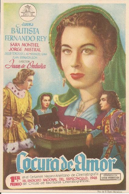 Programa de Cine - Locura de Amor (Sencillo) - Aurora Bautista - Fernando Rey - Sara Montiel