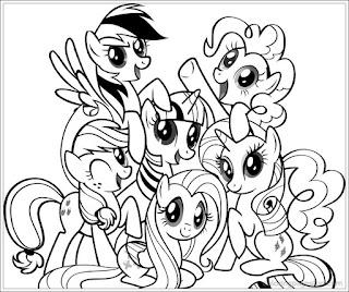 Ausmalbilder My Little Pony zum Ausdrucken