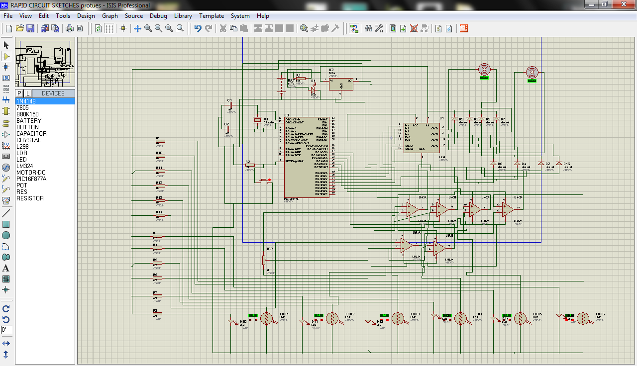 Pic Microcontroller Based Line Following Robot Schematics