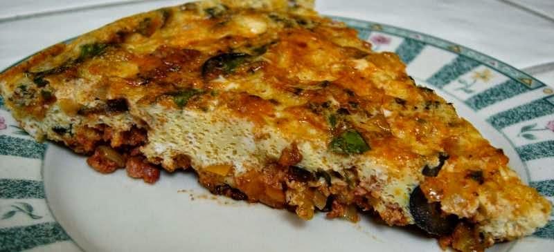 retete omleta cu legume mexicane si bacon la tigaie