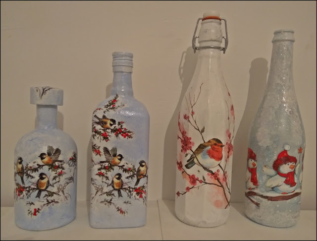 Butelki na zimowe nalewki