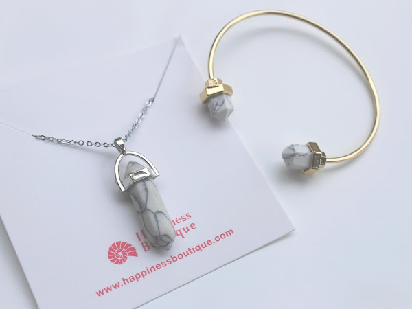 Marble Necklace & Bangle + Discount code