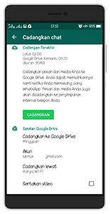 Pulihkan dari google drive